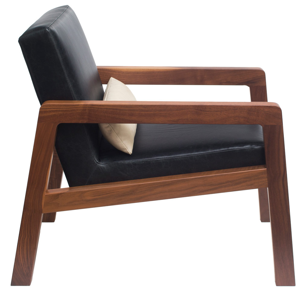 EVE lounge chair - black